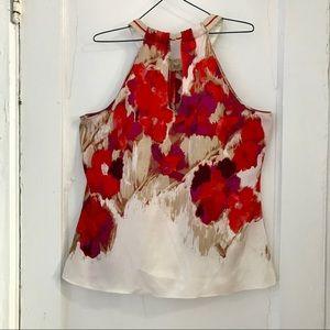 T Tahari Tops - Like-New Tahari Sleeveless Painterly Top